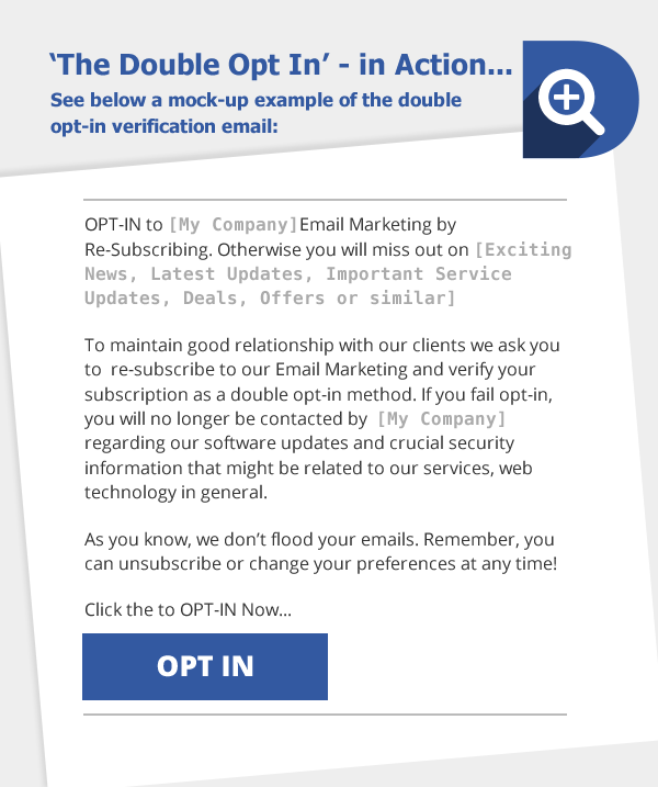 Double opt in message